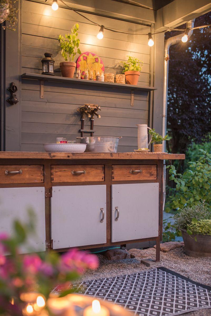diy terrassen makeover vorher nachher teil 2 outdoor k che vorher nachher bilder und outdoor. Black Bedroom Furniture Sets. Home Design Ideas