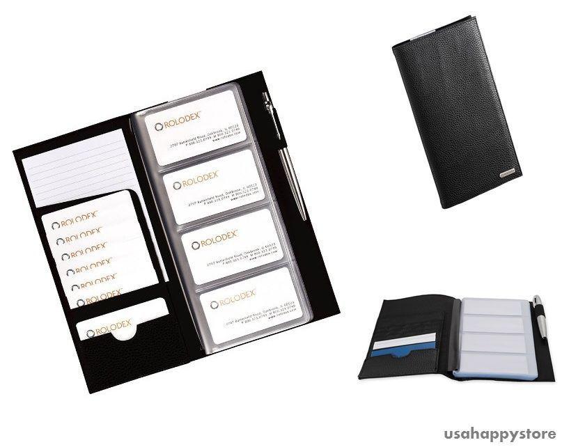 Rolodex Business Card Holder Organizer Pocket Note ID Credit Card ...
