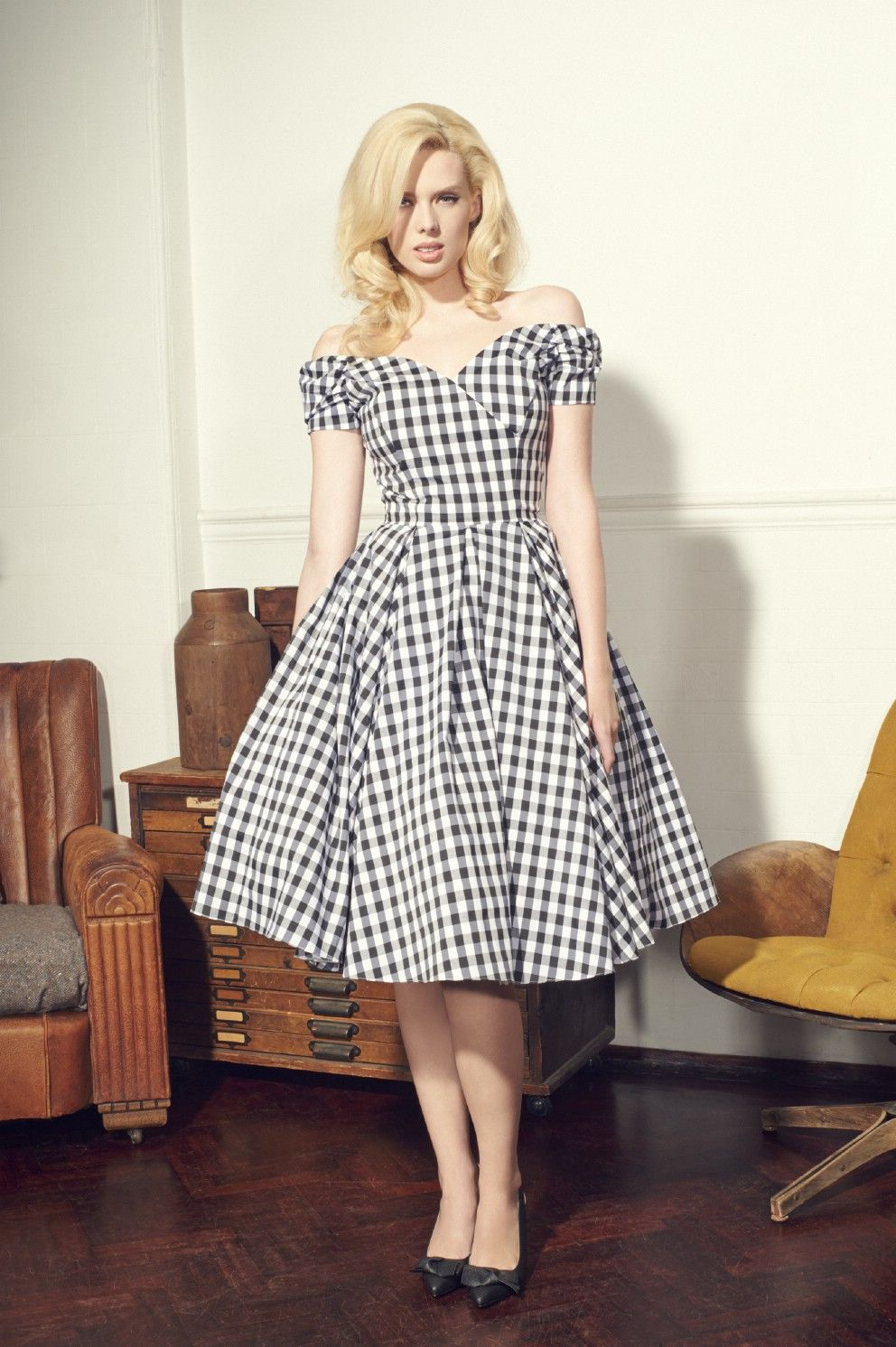 Fatale black u white gingham prom dress the pretty dress company