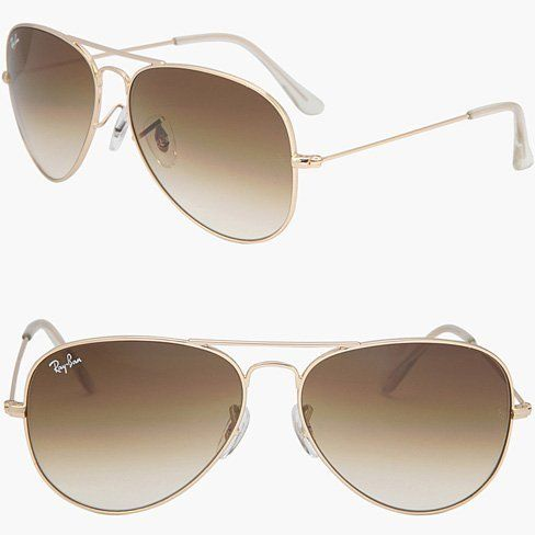 RAY BAN AVIATOR RB3025 Sunglasses ~ Gold/Brown ~ Available in 3 sizes ~ Now $119.50 ~ suitable for men & women
