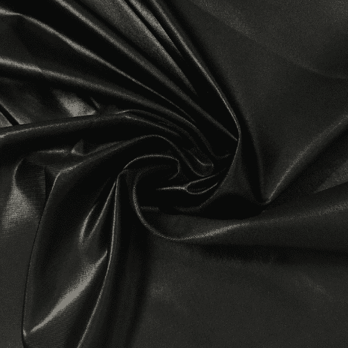 Black Cire Spandex Faux Leather Fabric Pine Crest Fabrics In 2020 Leather Fabric Faux Leather Fabric Faux Leather