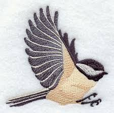 Image result for flying chickadee silhouette   Embroidery ... - photo#34