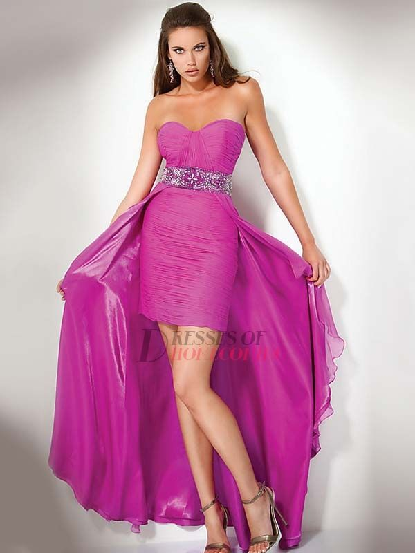 high low chiffon homecoming dress<3 luv purple! | Fashion ...