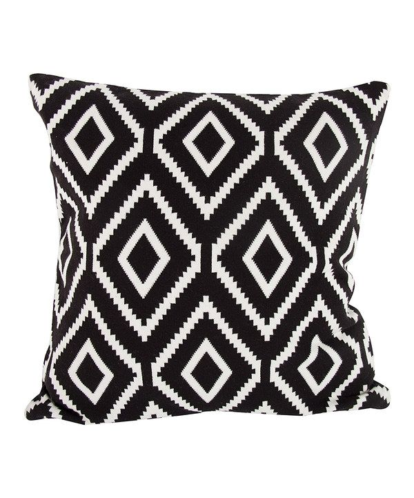 Look at this Black Cotton Cashmere Pillow on #zulily today!