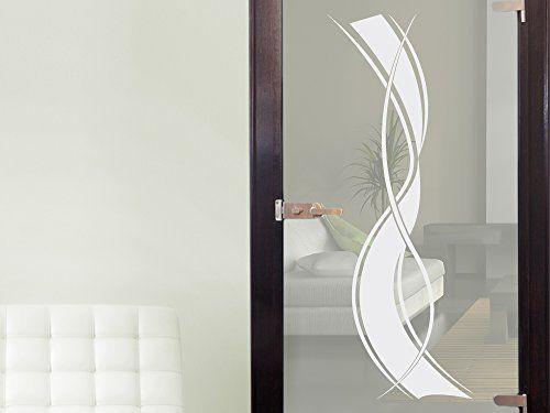 glasdekor glast r aufkleber fensterfolie f r wohnzimmer streifen gr e 150x57cm graz design. Black Bedroom Furniture Sets. Home Design Ideas