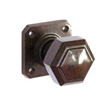 BROLITE 6817 Real Bakelite Door Knobs Walnut | Door knobs, Doors and ...