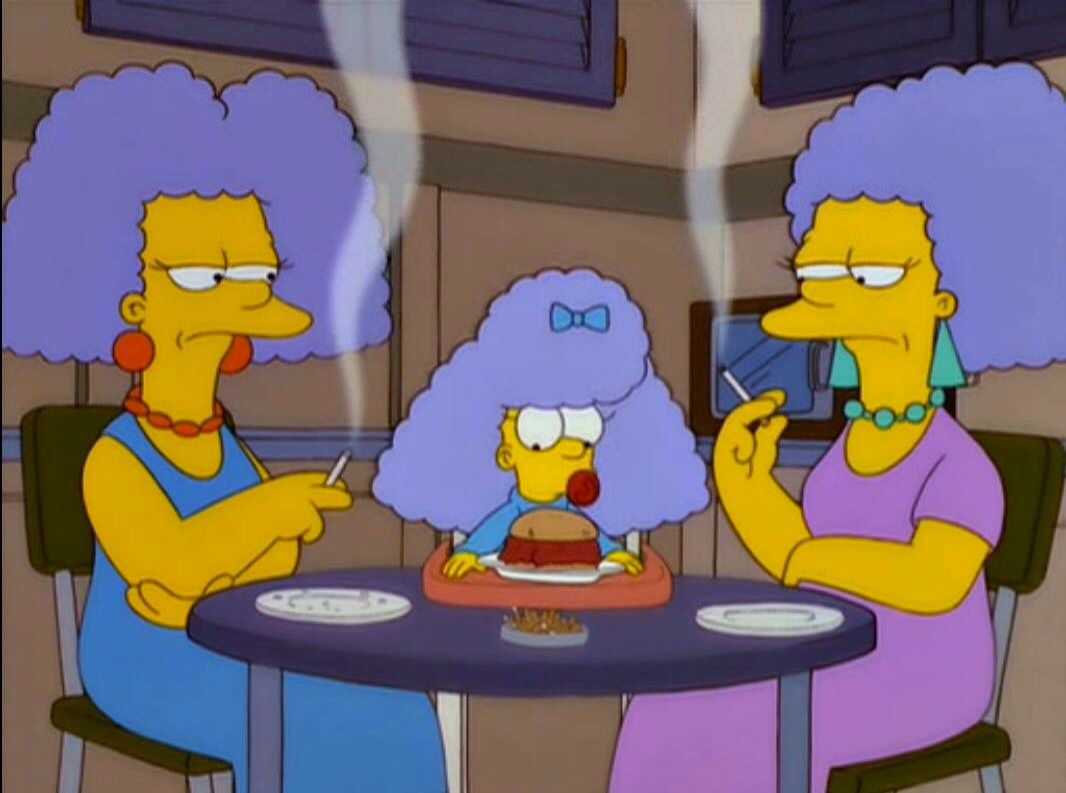 She Hasn T Touched Her Manwich Fondos De Los Simpsons