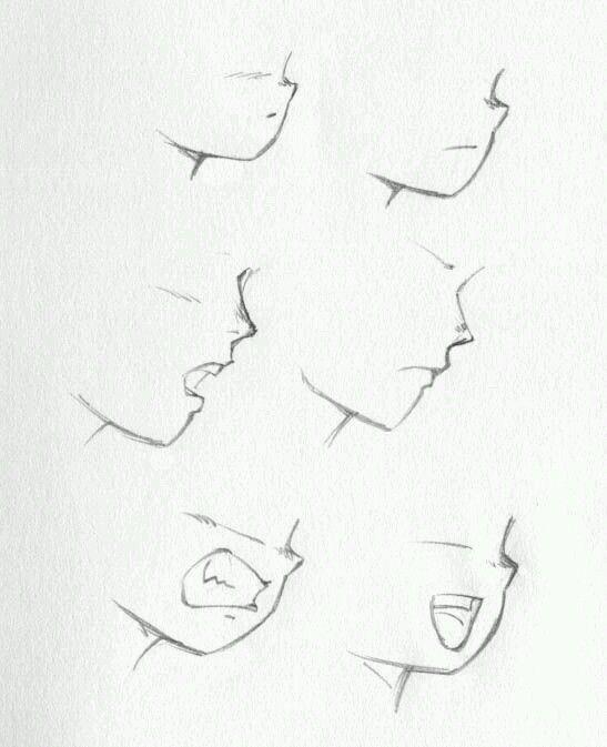 Como Desenhar Um Anime De Lado Kk Desenho De Rosto Como Desenhar Labios Desenhar Labios