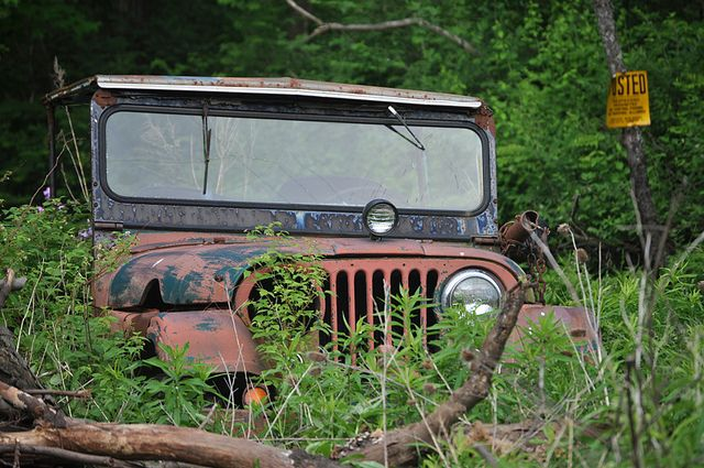 This Old Car Abandoned Jeep Old Jeep Old Cars Jeep