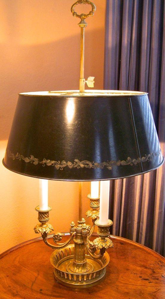 French Ormolu Tole Bouillotte Lamp 19th Century Lamp Bronze Floor Lamp Antique Lamps