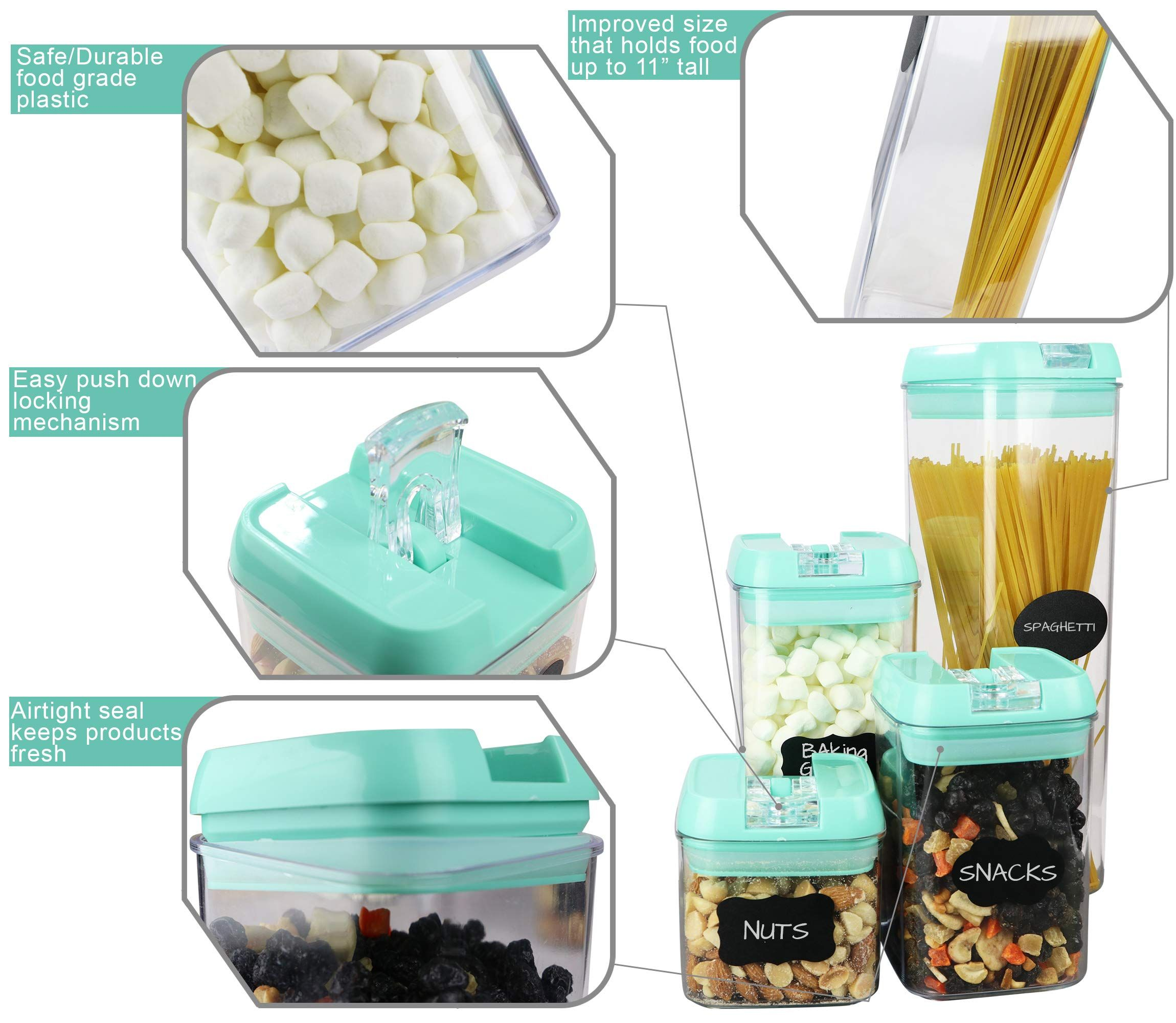 Airtight Food Storage Containers 7 Pc Set Shatterproof Plastic Food Containe Airtight Food Storage Containers Airtight Food Storage Plastic Food Containers