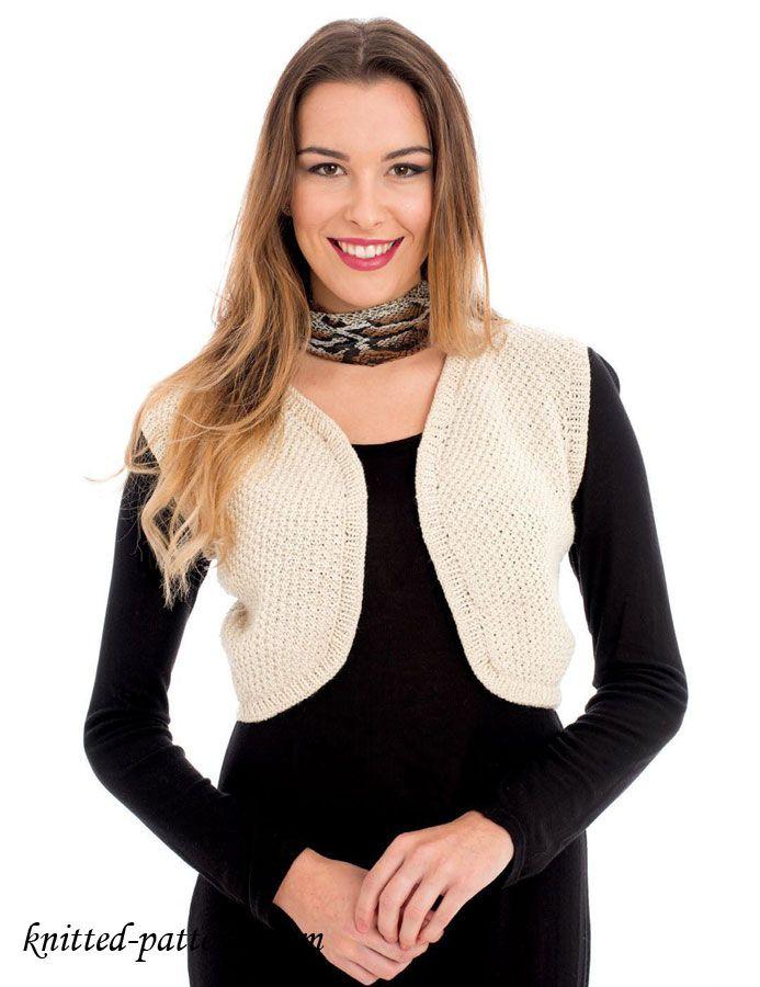 Free Women\'s Vest Knitting Patterns   Free knitting patterns ...