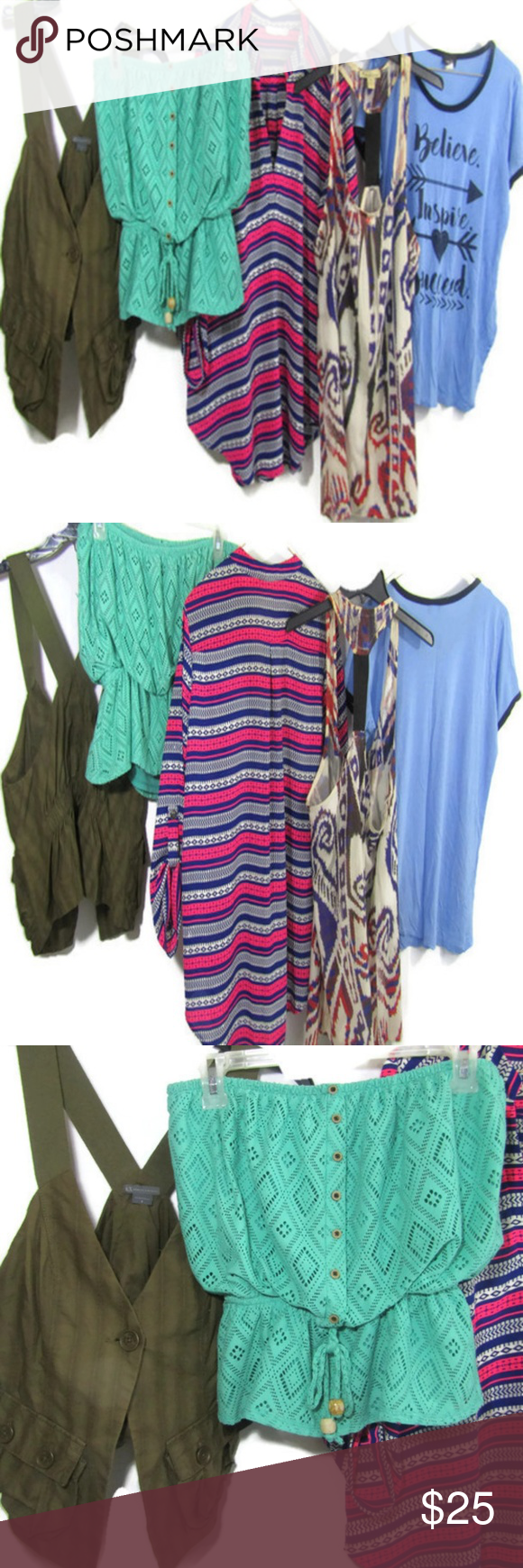 cad0d03b3e Armani Exchange Rue21 Women s Tops Blouses Bundle This bundle consists of 1  tribal print tank