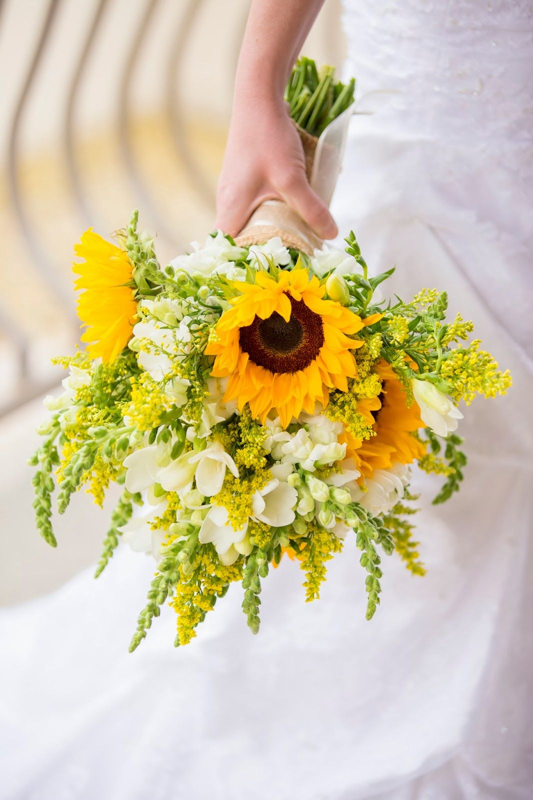 Sunflower Bouquet Flowers Wedding Variet Pinterest