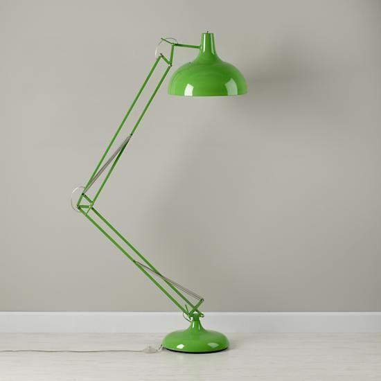 The Land of Nod | Kids Lighting: Giant Green Floor Lamp in ...