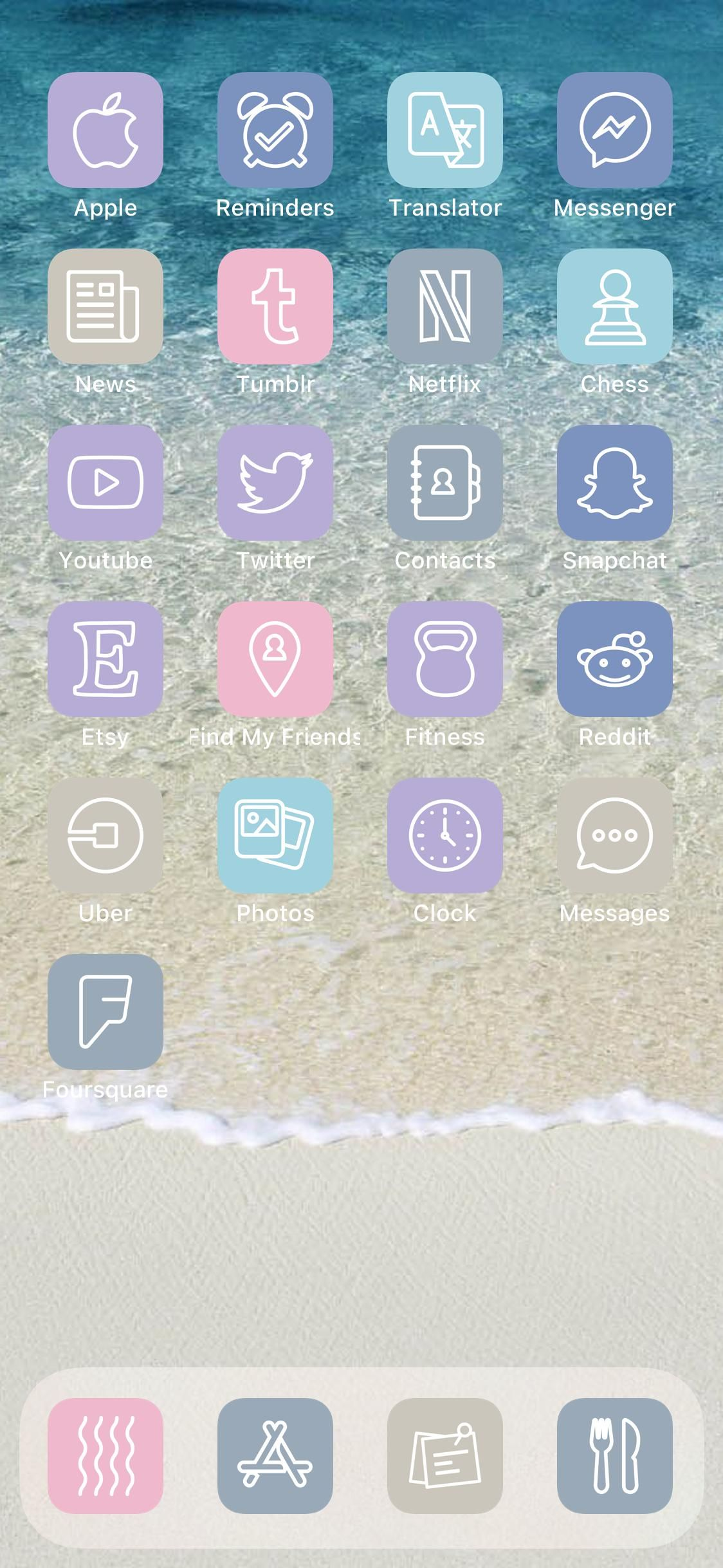 Megapack With 4 000 Unique Pastel Beach Ios 14 App Icons For Your Iphone Or Ipad Home Screen Aesthetic Bundle For Shortcuts Customization In 2021 Find My Friends Snapchat Logo App Icon