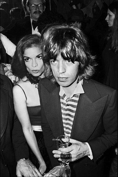Bianca and Mick Jagger hanging out at the Copacabana club in New York City. By Allan Tannenbaum.  Archival Digital Print   Limited Edition  Hand signed and numbered by the photographer www.lamaisonrebelle.com