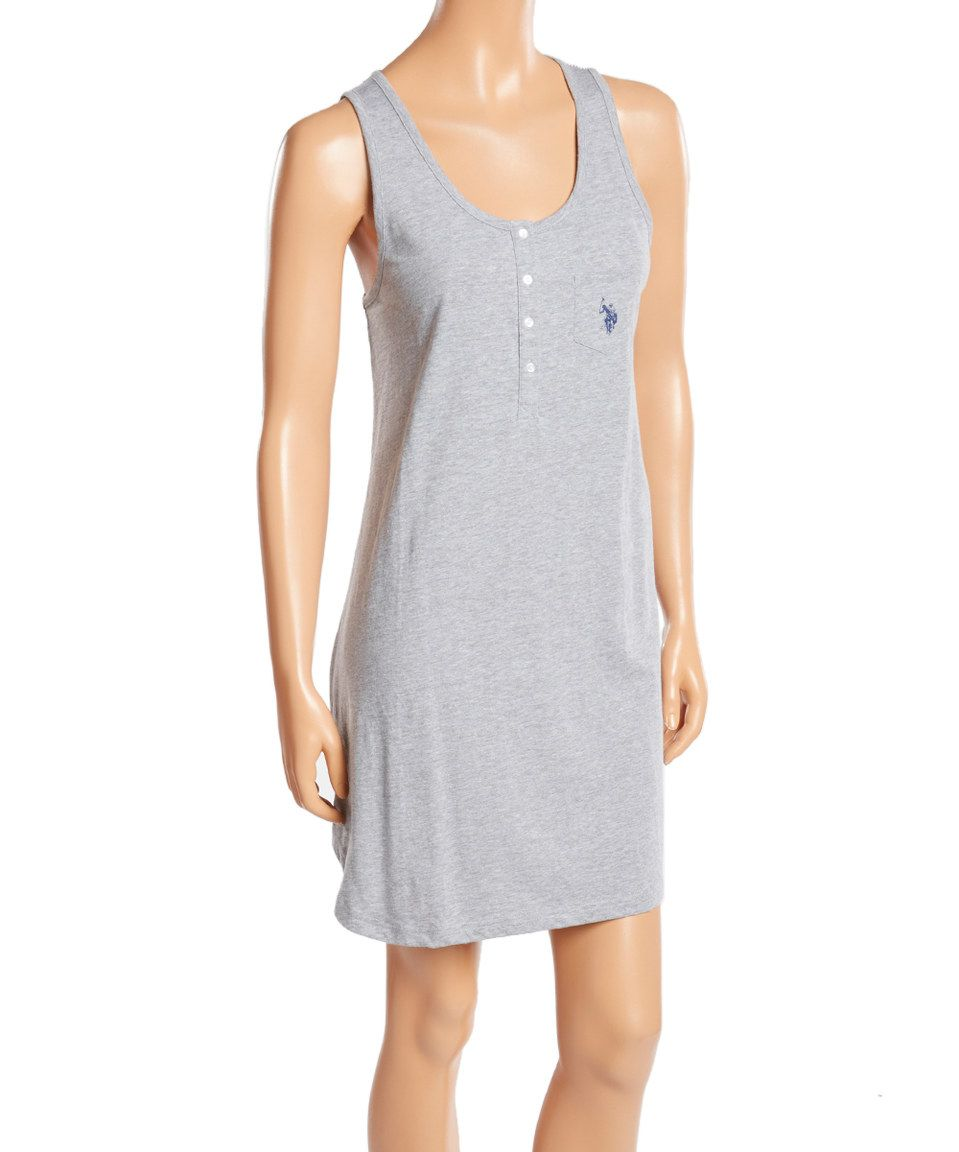 Look At This Zulilyfind Heather Gray Cotton Chemise By U S Polo