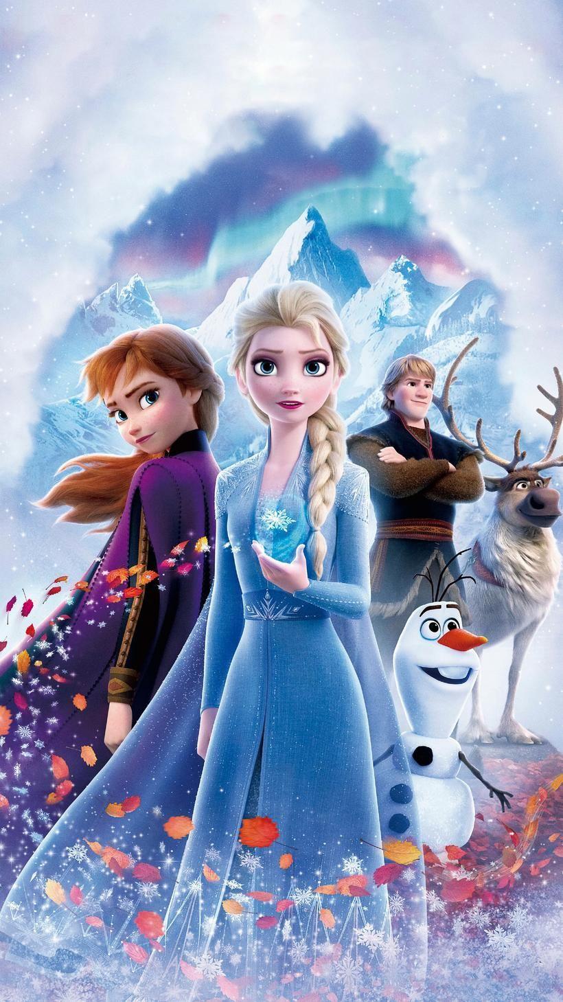 Frozen Ii 2019 Phone Wallpaper Moviemania In 2021 Frozen Poster Frozen Wallpaper Disney Princess Frozen