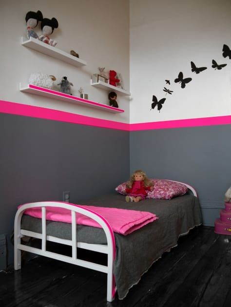 belle deco chambre bebe fille rose et gris Pinterest