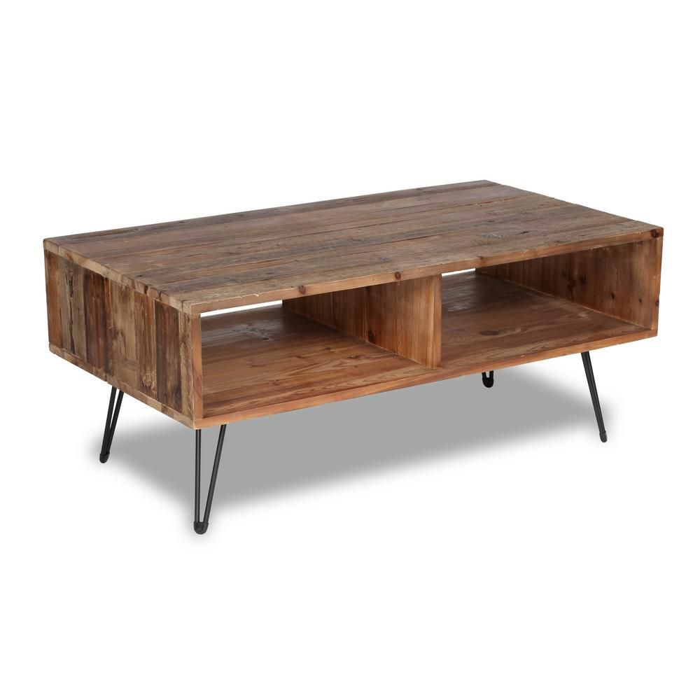 Crawford Burke Turner Natural Wood Coffee Table Natural Wood