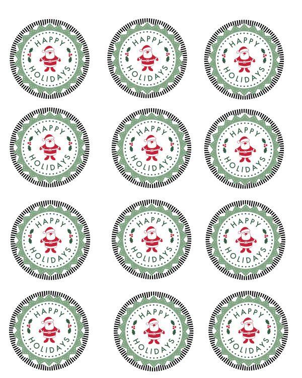Free Printable Happy Holidays Mason Jar Labels Mama Likes To Cook Holiday Mason Jars Gifts Mason Jar Gift Tags Mason Jars Labels