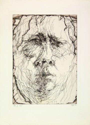 Horst Janssen Selbst Mit 3 Nasenlochern Kunstelemente Kunst Portrait Zeichnen