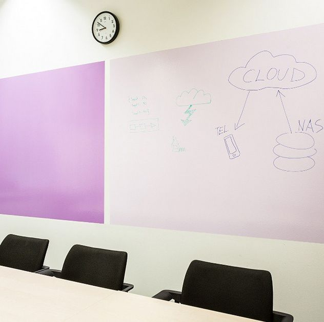 With Smart Wall Paint Whiteboard Paint In Clear You Can Create A Whiteboard Surface In Any Colour First Pi Dry Erase Wall Whiteboard Paint Dry Erase Paint