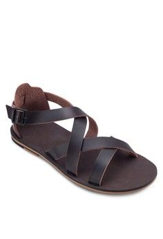 92315eafa5137a Multi-Strap Buckle Sandals from ZALORA in brown 1