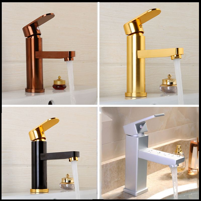 Luxury Bathroom Faucet Black Gold-plated Bathroom Faucet Rose Gold ...