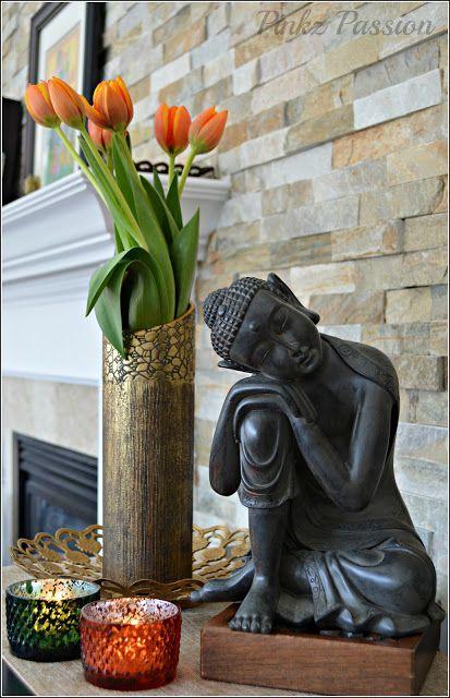 Brass Vignettes, Flower vignettes, Flowers décor, Global Décor, Global Décor Design, India inspired decor, My home, Spring Blooms, Spring Decor, Spring touches around home, Spring vignettes, Tulip Decor #buddhadecor