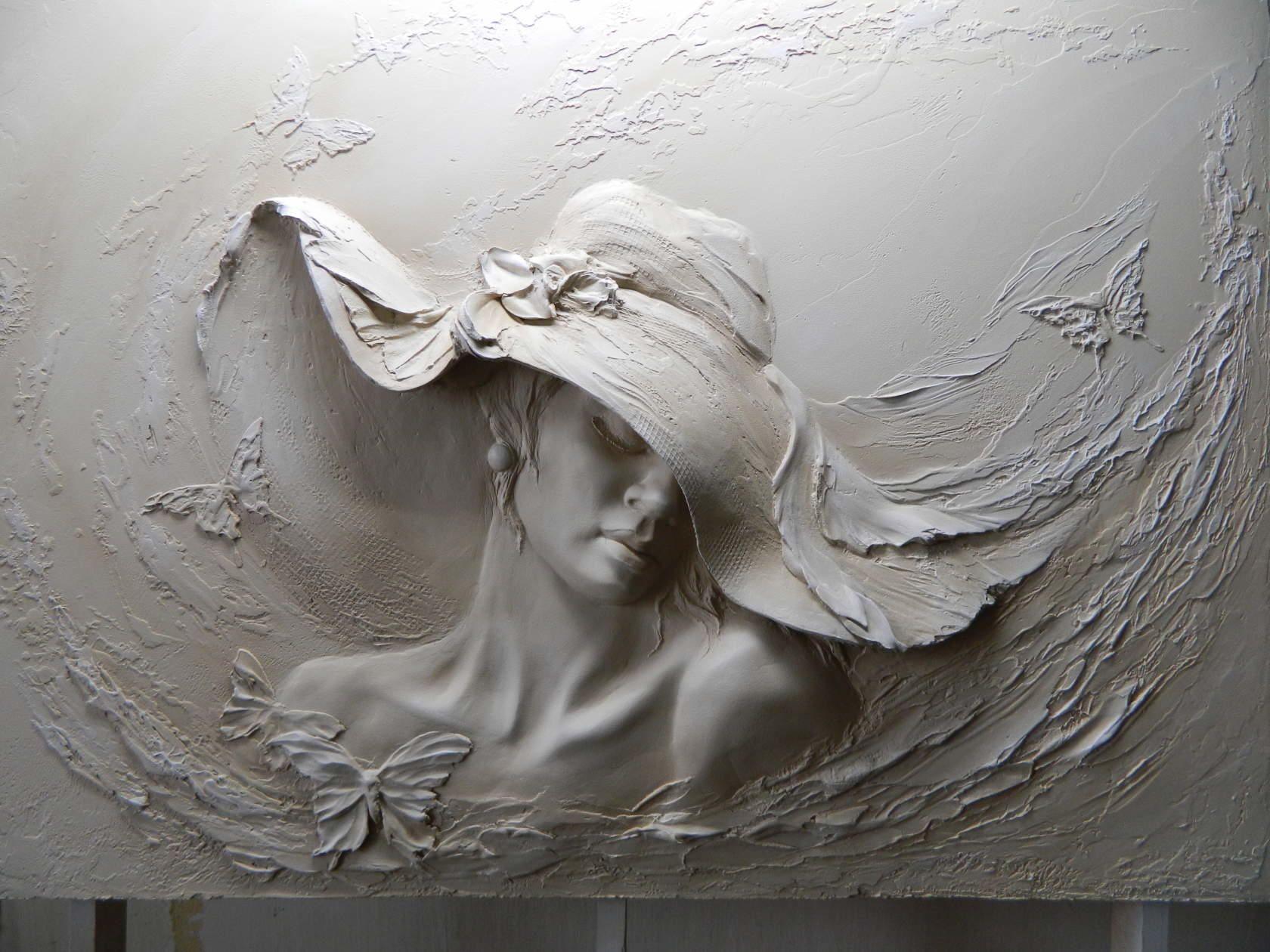 bas relief pinterest peinture textur sculptures murales et platre. Black Bedroom Furniture Sets. Home Design Ideas