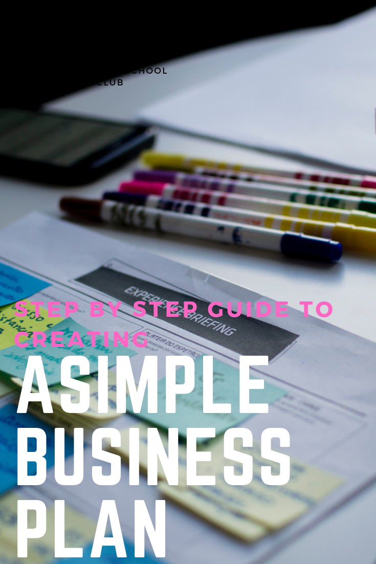 here s a quick way to create a simple business plan business and