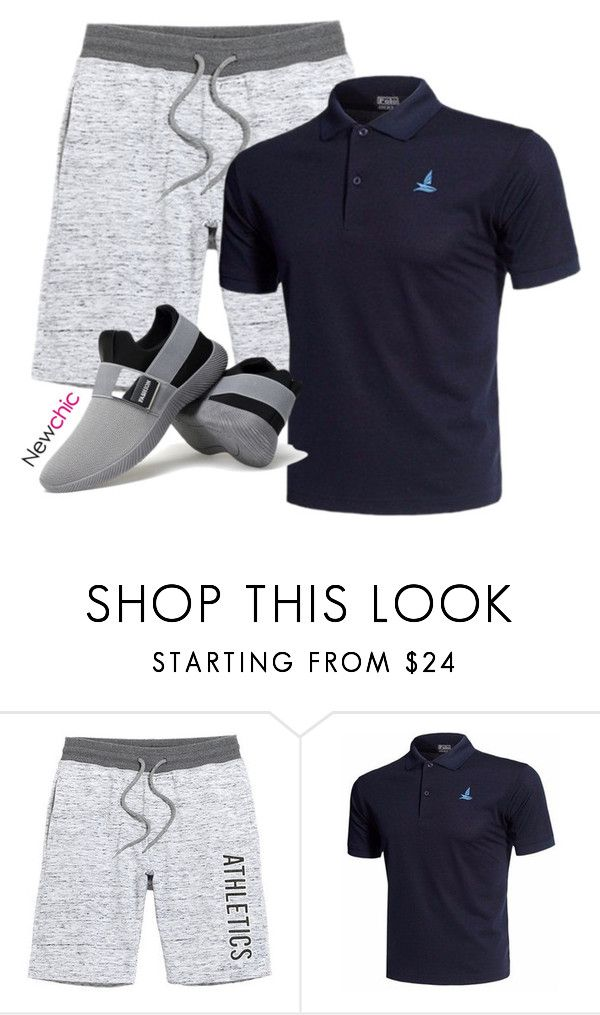 Newchic# Sport Man by lovenewchic on Polyvore featuring men's fashion and menswear