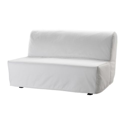 ikea in white only 199 for a loveseat sofa that pulls out into a bed big enough for two ahhhh its so cool - Canape Bz Ikea
