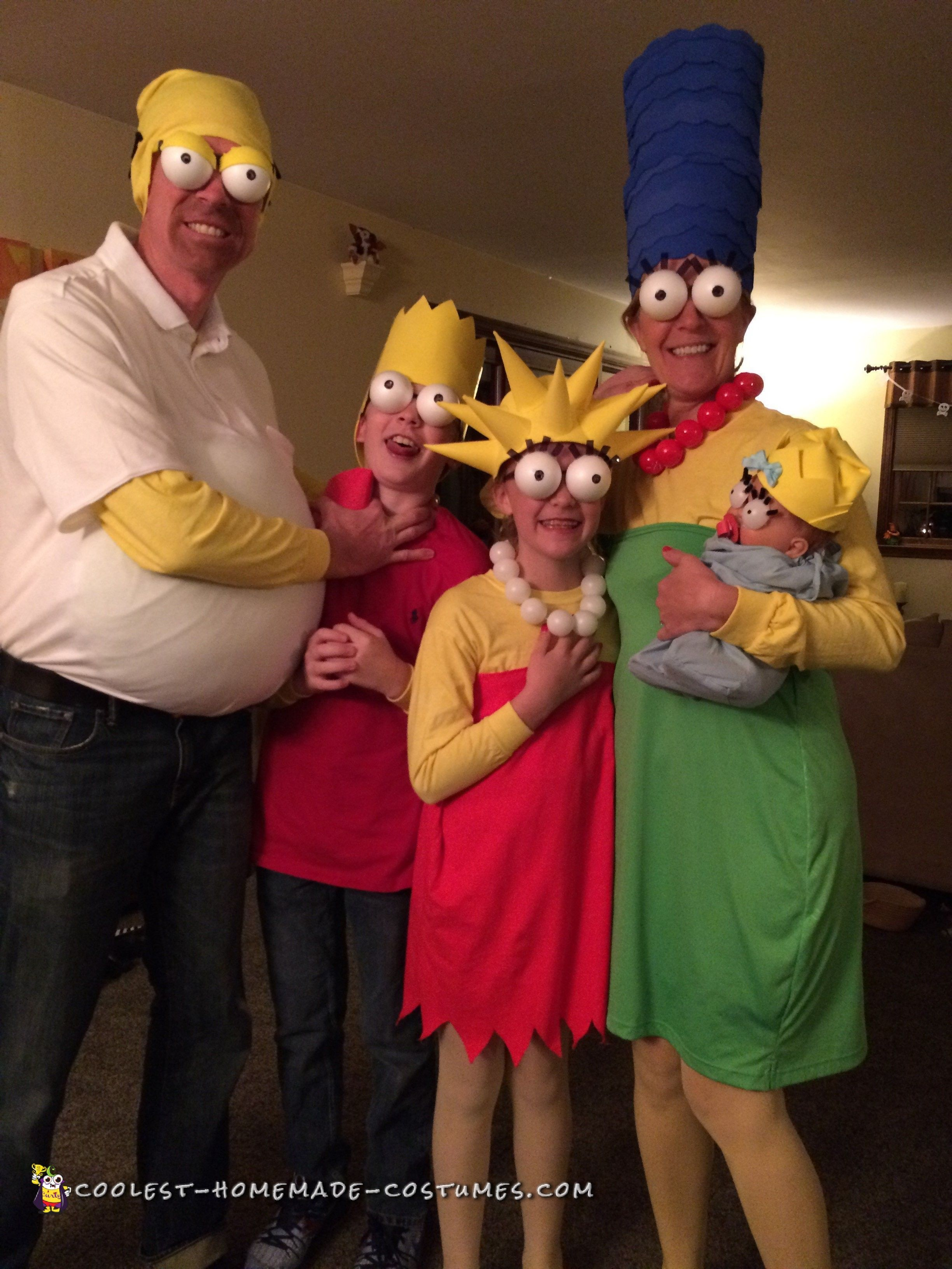 coolest diy simpsons family costumes | homemade costumes, costumes