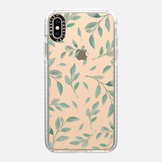 Casetify Impact iPhone Xs Max Case - Watercolor Leaves