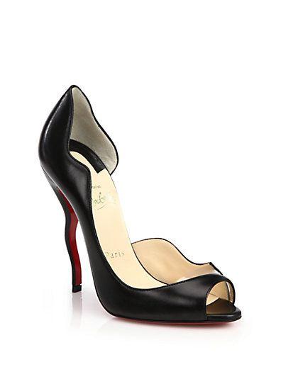 ee7665b7b32 Christian Louboutin - Wavy Open-Toe d'Orsay Pumps   Shoe Lust ...