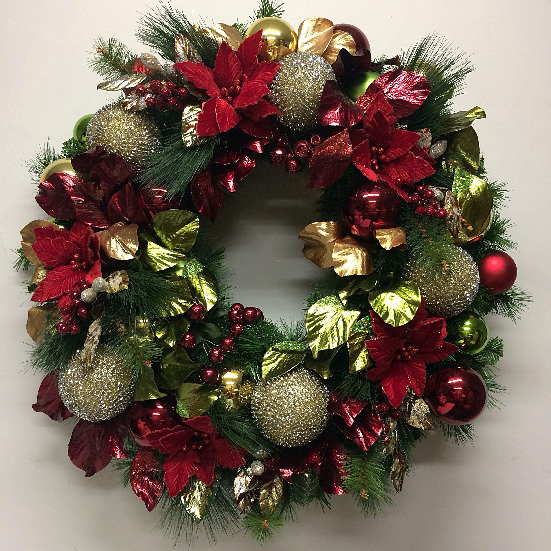 large christmas wreath by miss haberdash christmas - Large Christmas Wreaths