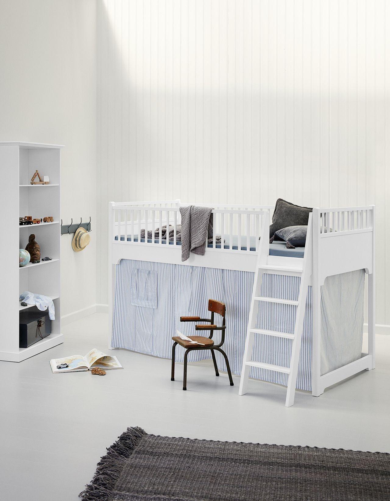 Oliver Furniture Halbhohes Hochbett Seaside 90x200 cm Weiß