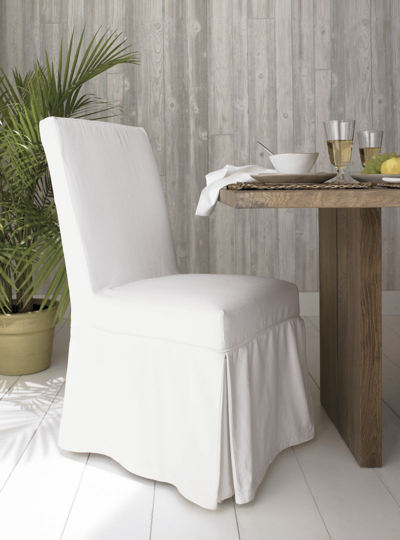 Slip White Slipcovered Dining Chair | Slip covered dining ...