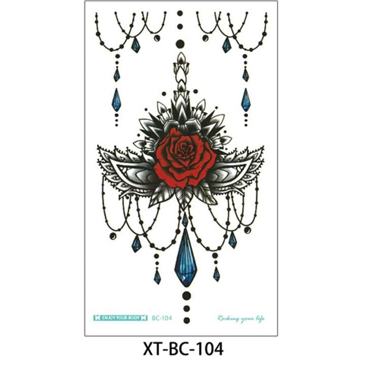 Camilia Red Rose Mandala Chandelier Sternum Temporary