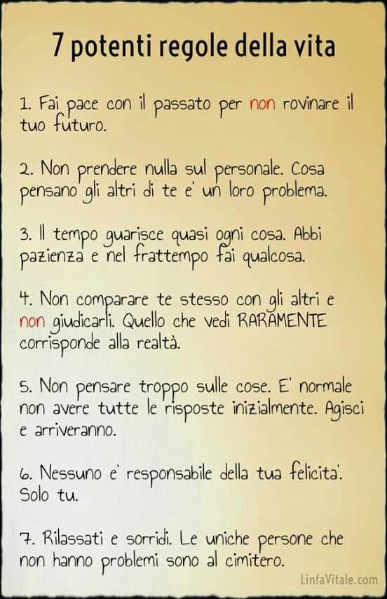 Amato Regole di vita | frasi,citazioni, aforismi | Pinterest VK22
