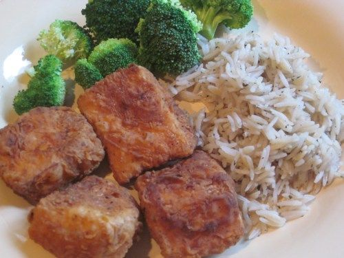 Chicken Fried Tofu Yum I Love This Stuff At Whole Foods Wonder If