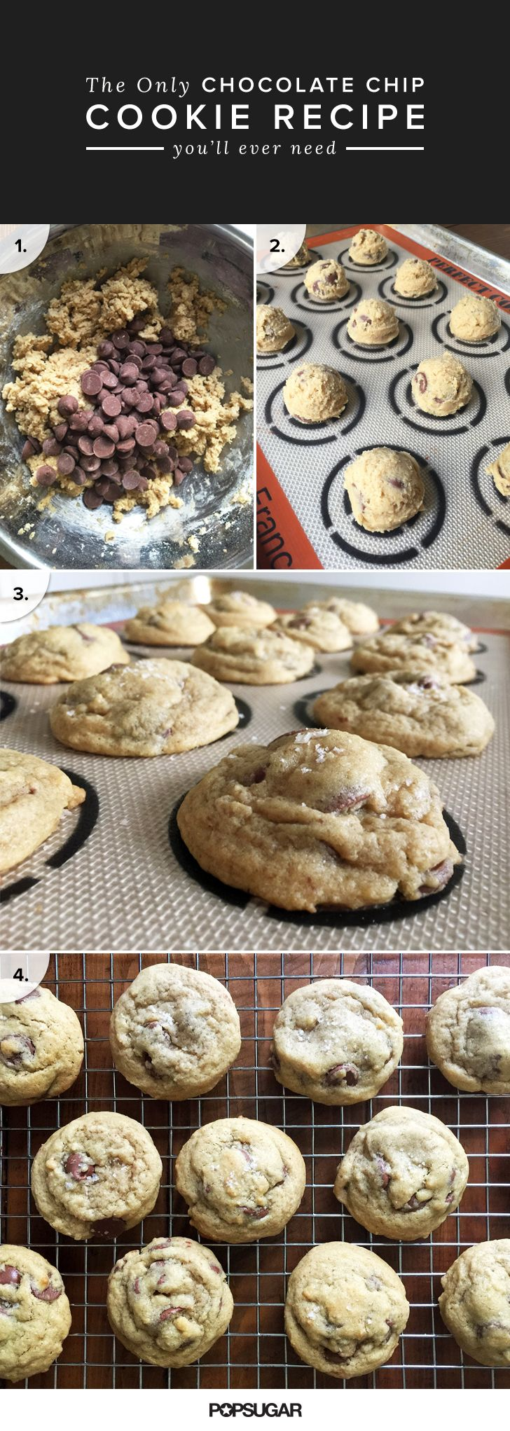 This is a foolproof recipe for the ultimate chocolate chip cookies — even a baking novice can master it!