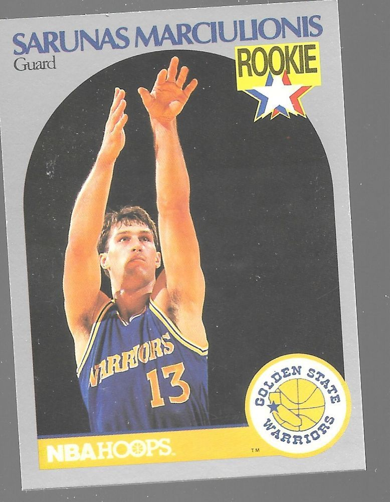 Details About 1990 91 Hoops 115 Sarunas Marciulionis Rc Warriors
