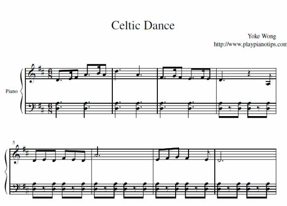 Celtic Dance Piano Sheet Music With Images Sheet Music Celtic