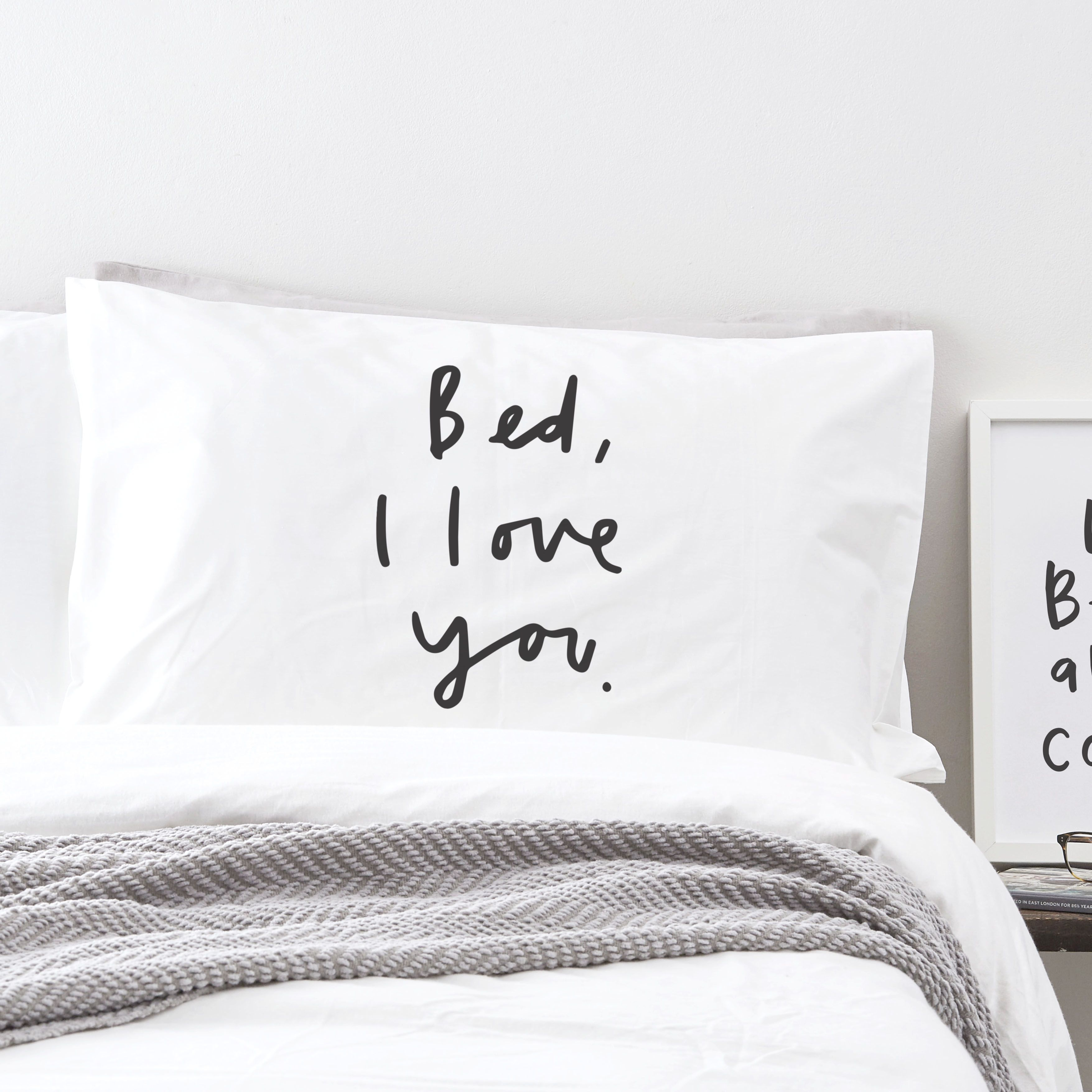 I Love You Bettwäsche Bed I Love You Pillowcase Pillowcases Wohnen Handlettering