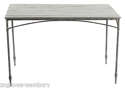 Tobs garden #furniture  antique rustic #metal garden #table rectangle 122cm,  View more on the LINK: http://www.zeppy.io/product/gb/2/371310794861/