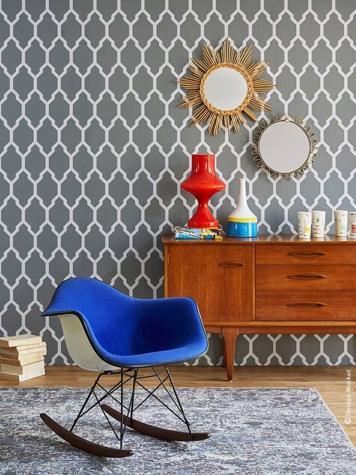 tapete tessella von farrow ball passt hervorragend zu. Black Bedroom Furniture Sets. Home Design Ideas